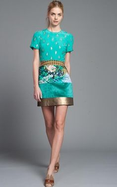 Tracy Reese Multi Patchwork Shift