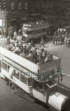 Doppeldeckerbus im Berlin 20`er Jahre