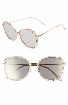 31124add48 Gentle Monster Switch Back 58mm Rounded Sunglasses