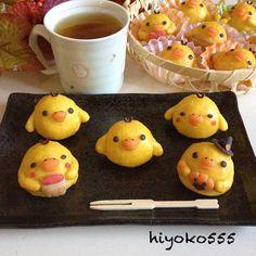 Chick (from Relakkuma) cake. キイロイトリのスイートポテト