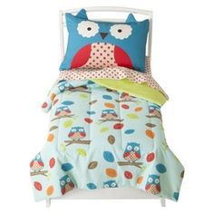 Zoo 4pc. Toddler Bedding Set - Owl for Wills toddler bed. Omg. I want this.