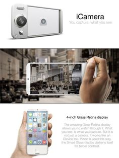 Apple iCamera – Amidst many iWatch and iPhone 5S / iPhone 6 rumors, we have here the iCamera Concept. A total figment of creative imagination that sparks a debate amongst Apple Fanboys and girls. Straightforward and intuitive, I like what I see and think of it as a well inspired idea.