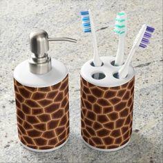 Giraffe Print bath set