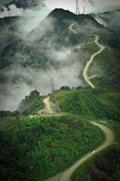 Road to Tembagapura, Papua, Indonesia.
