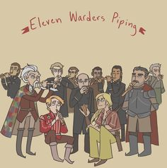 Eleven Warders Piping - WoT Christmas