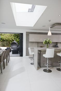 Chestnut Lodge skyview skylights in stunning kitchen.
