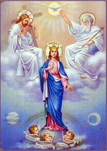 Quinto misterio de gloria: La Coronación de nuestra Señora como Reina de todo lo creado.