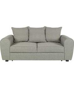 Anne Fabric Sofa Bed - Charcoal.