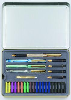 Speedball 2968 Oblique Pen Set Black