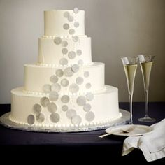 Celebration wishes and champagne dreams. A new wedding cake idea.
