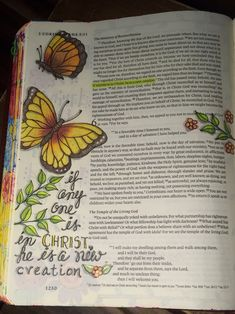2 Corinthians 5:17. Sherrie Bronniman - Art Journaling: In My Bible. Inspired by a Bible Art Journal page by Paula Kay Bourland