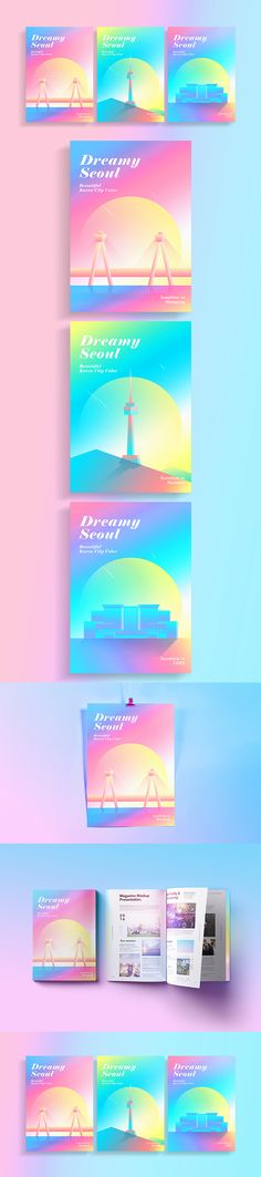 Dreamy Seoul on Behance Web Design, Book Design, Cover Design, Layout Design, Design Art, Print Design, Brochure Design, Branding Design, Identity Branding