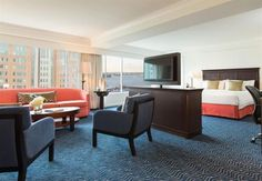 Make your getaway to Renaissance Boston Waterfront Hotel, a premier luxury destination located in Boston's vibrant Seaport District. Cheap Travel, Hotel Deals, Contemporary, Modern, Living Area, Dining Bench, Boston, Renaissance