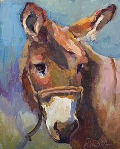 """Bella Burro"" by Sarah J. Webber Fine Art Oil ~ 10"" x 8"