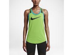 Nike Flow Graphic Women's Training Tank, Action Green/Black/Omega Blue/Black