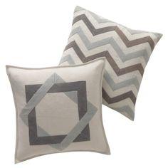 DwellStudio Home Zigzag Mist Pillow - Final Sale @Sarah Nasafi Grayce