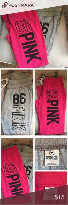2 piece bundle deal 2 pair of Victoria secret pink boyfriend pants both sized small pink Pants