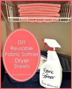 DIY, reusable dryer sheets