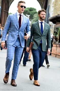 Derek and Jason of Beckett & Robb, at Pitti Uomo 86