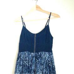 Anthropologie - Navy blue color block print dress Anthropologie - Navy blue color block print casual dress. Like new. Anthropologie Dresses