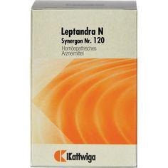 SYNERGON 120 Leptandra N Tabletten:   Packungsinhalt: 200 St Tabletten PZN: 03634277 Hersteller: Kattwiga Arzneimittel GmbH Preis: 9,62…