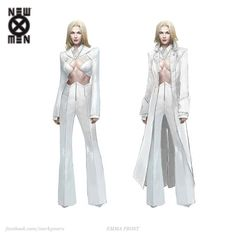 I thought Rosamund Pike would make a great Emma Frost! I tried to put my own spin on her outfit from the New X-Men. Marvel Women, Marvel Girls, Comics Girls, Super Hero Outfits, Super Hero Costumes, Emma Frost Costume, Superhero Suits, Superhero Design, Marvel Comics