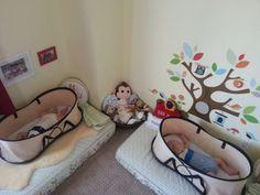 Habitación gemelos inspiración Montesory