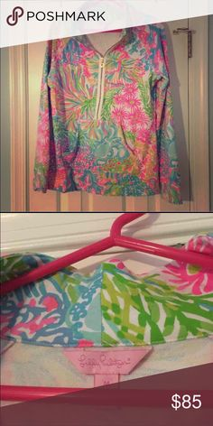 Lilly Pulitzer Popover Only worn a couple times Lilly Pulitzer Tops Sweatshirts & Hoodies