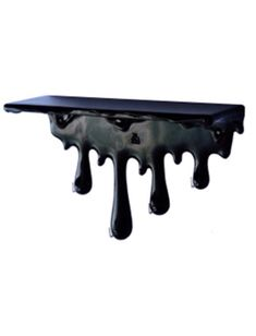 For the office -- Dripping Shelf - Antartidee - Home Decor : JackThreads Paint the drips red. Gothic Furniture, Furniture Decor, Skull Rock, Art Et Design, Goth Home Decor, Gothic House, Gothic Room, Decoration Design, Haunted Mansion