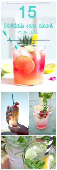 easy recipes of alcohol-free cocktail to do it yourself! 15 easy recipes of alcohol-free cocktail to do it yourself! , 15 easy recipes of alcohol-free cocktail to do it yourself! Beste Cocktails, Non Alcoholic Cocktails, Summer Cocktails, Virgin Cocktails, Drink Party, Alcohol Recipes, Alcohol Free, Mojito, Healthy Drinks