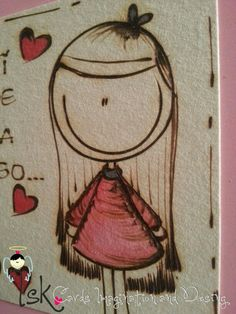Tarjeta en pirograbado Decorate Notebook, Origami, Diy And Crafts, Doodles, Artsy, Clip Art, Kawaii, Quilts, Illustration