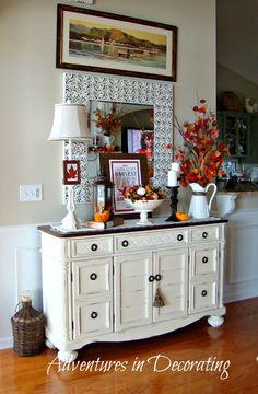 Adventures in Decorating: Fall Buffet Fall Crafts, Decor Crafts, Home Decor, Holiday Crafts, French Country Decorating, Fall Decorating, Decorating Office, Up House, Farm House