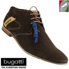 ... U4007-36 610 sötétbarna Klasszikusan elegáns férfi bőr bokacipő a  Bugatti kínálatából. A 3 pár fűzőlyukas cipő kétféle fűzővel is hordható ( barna kék). 4cb0bd878a