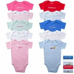 5-Pack Bodysuits 0-3 Months, Pink. From #Luvable Friends. Price: $14.20