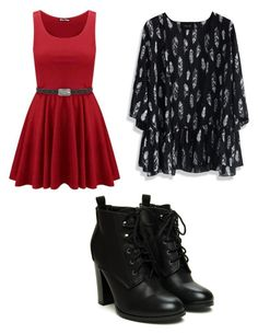"""""""Burgundy red"""" by miyalotus ❤ liked on Polyvore featuring Chicwish"""