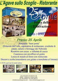 Festeggia con noi...... la Festa della Liberazione http://www.ristoranteagave.com/offerte/ #25aprile #1maggio #ristoranti #ristoranteagave #offerte