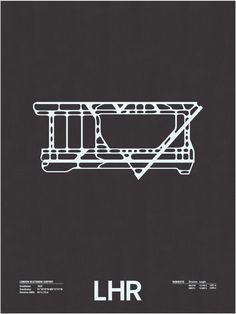 LHR: London Heathrow Airport Screenprint – NOMO Design