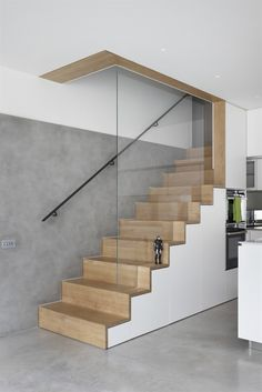 MWAI - Human spaces with craft Staircase Design Modern, Staircase Contemporary, Home Stairs Design, Modern Stairs, Interior Stairs, House Design, Contemporary Bathrooms, Stairs In Living Room, House Stairs