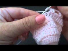 Passo a passo Luva em Crochê para Bebê ( parte 2- final) - YouTube