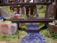 Jayson's 3' X 5' Outstanding N Scale Model Train Layout N Scale Train Layout, N Scale Layouts, N Scale Model Trains, Model Train Layouts, Scale Models, Helix Models, Model Railway Track Plans, Garden Railroad, Scale Design