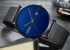 Minimalism Style Business Thin Mens Watches Mesh Steel Band with Date Quartz Wrist Watch ** For more information, visit image link. (This is an affiliate link) Wooden Watches For Men, Diesel Watch, Waterproof Watch, Casual Watches, Minimal Fashion, Watch Brands, Sport Watches, Business Fashion, Quartz