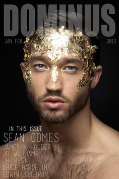 Michael Rowlands for Dominus Magazine January-February 2016 by Sean Gomes Male Makeup, Beauty Makeup, Peacock Makeup, Glitter Make Up, Glitter Face, Runway Makeup, Male Photography, Photography Magazine, Foto Art