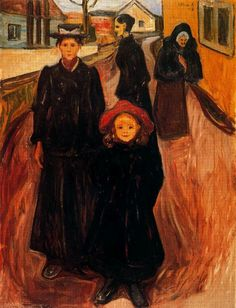 Edvard Munch. Four Ages in Life, 1902  Style: Symbolism