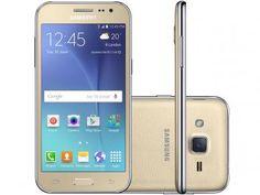 """Smartphone Samsung Galaxy J2 Duos 8GB Dourado - Dual Chip 4G Câm. 5MP Tela 4.7""""…"""
