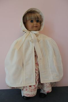 American Girl Doll Clothes  Victorian Style by ForAllTimeDesigns  The inspiration for this cape was a vintage 1930's Simplicity pattern.