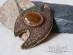 miidori Beadwork, Gemstone Rings, Brooch, Gemstones, Jewelry, Jewlery, Gems, Jewerly, Pearl Embroidery