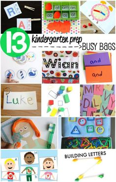13 Kindergarten Prep Busy Bags for Kids - Get the skills to get ready for school - Includes free printables! 13 Kindergarten Prep Busy Bags for Kids - Get the skills to get ready for school - Includes free printables! Toddler Learning Activities, Toddler Preschool, Fun Learning, Preschool Activities, Learning Cards, Learning Colors, Abc Cards, Kindergarten Readiness, Preschool Kindergarten