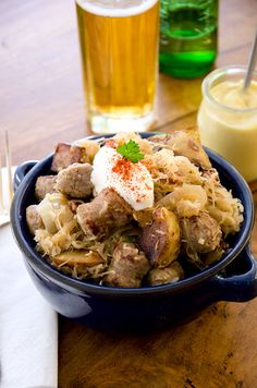 Learn how to make this soulful Sausage and Sauerkraut recipe in your own kitchen. It's delicious & hearty. This recipe is Gluten Free, Paleo & Low Carb.