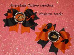 Anaheim Ducks hair bow clip