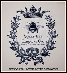 Details about Furniture Decal Image Transfer Vintage Queen B.- Details about Furniture Decal Image Transfer Vintage Queen Bumble Bee Wreath Diy Shabby Chic Furniture Decal Image Transfer Vintage Queen Bumble Bee Wreath Diy Shabby Chic Vintage Bee, Vintage Labels, Vintage Prints, Vintage Graphics Free, Vintage Ephemera, Queen Bees, Graphics Fairy, Printable Art, Graphics